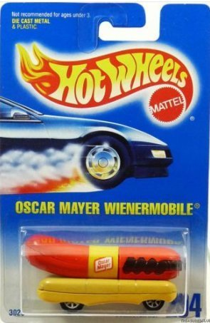 hot-wheels-oscar-mayer-wienermobile-with-7-spoke-wheels-204-by-hot-wheels