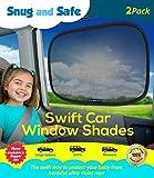 Snug and Safe Swift Car Window Shades with UV Heat Rays Glare, 14x21-Inch, 2-Pack