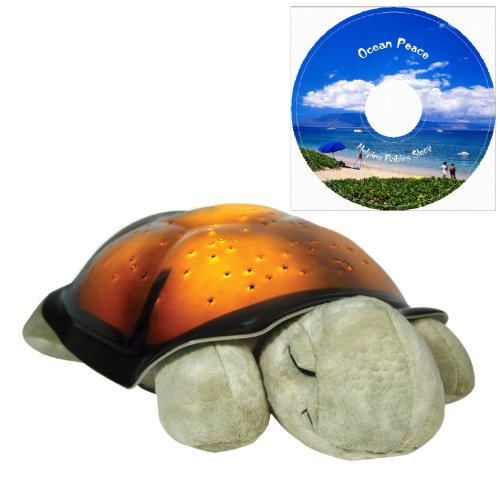 Twilight Turtle with Constellation Night Light & Ocean Peace Music(helping Babies and Kids Sleep Better)