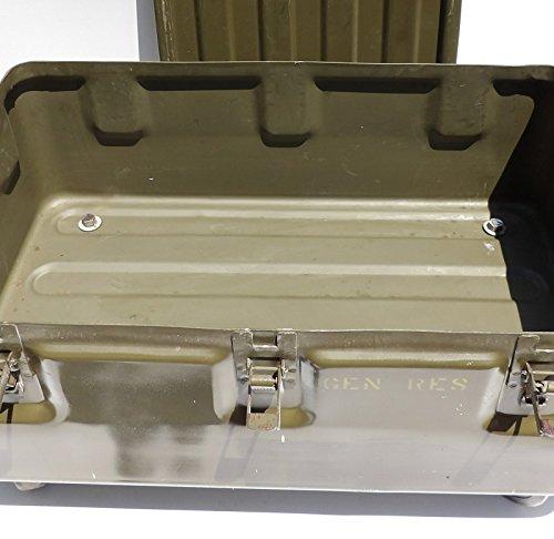 Military Trunk Coffee Table Foot Locker on Wheels 4