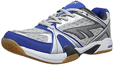 HI-TEC Indoor Lite Men's Court Shoe, Grey/Blue, US7
