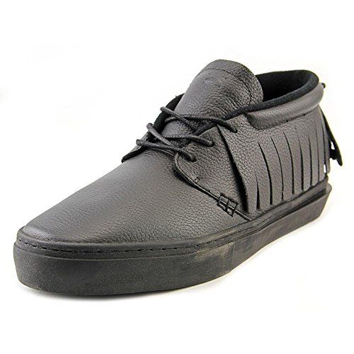 Clear Weather One-O-One Black Bird Mid Top Leather Sneaker Size 11 US Men, 12.5 US Women
