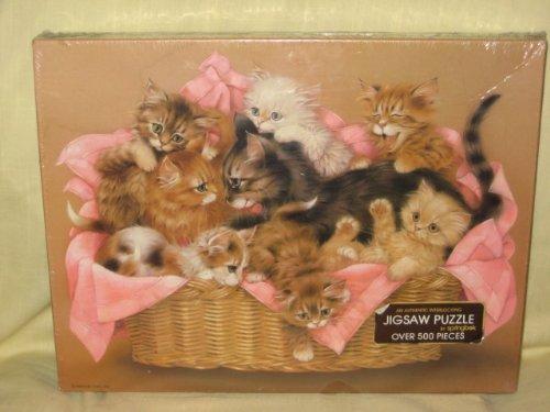 "Vintage Hallmark Springbok "" Kitten Caboodle "" 500 Piece Jig Saw Puzzle - 1"