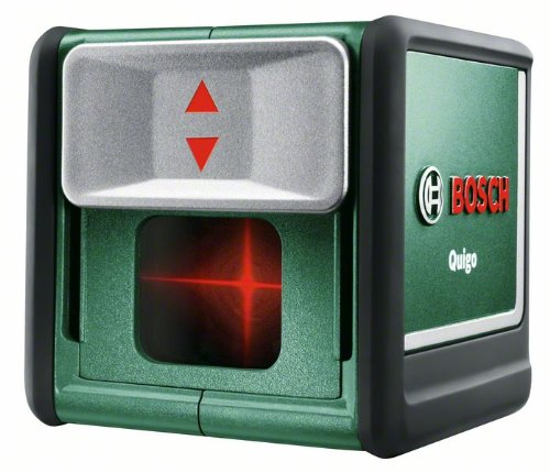 Bosch-DIY-Kreuzlinien-Laser-Quigo-2-Generation-2-x-15-V-LR06-AA-Batterien-Arbeitsklemme-MM2-Schnell-Montage-Platte-Karton-7-m-Arbeitsbereich
