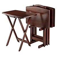 Winsome Wood TV Table Set, Walnut by Winsome Wood