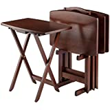 Winsome Wood TV Table Set, Walnut