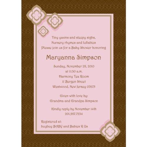 Elegant Blossoms Pink Baby Shower Invitations - Set Of 20 front-1051149