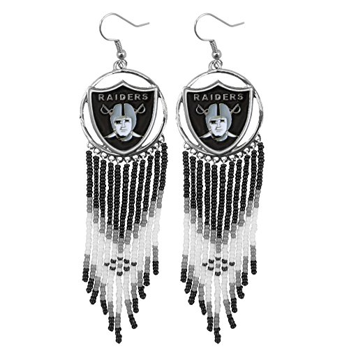 NFL Oakland Raiders Dreamcatcher Earring