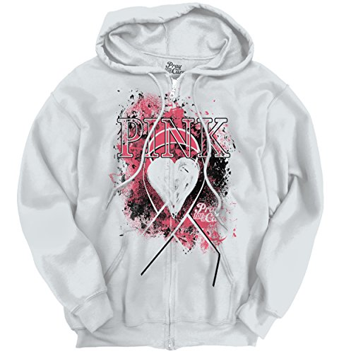 Fight Support Breast Cancer Awareness Womens Clothes Pink Gift Zipper Hoodie