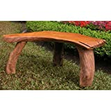 Charleston Curved Rustic Outdoor Bench