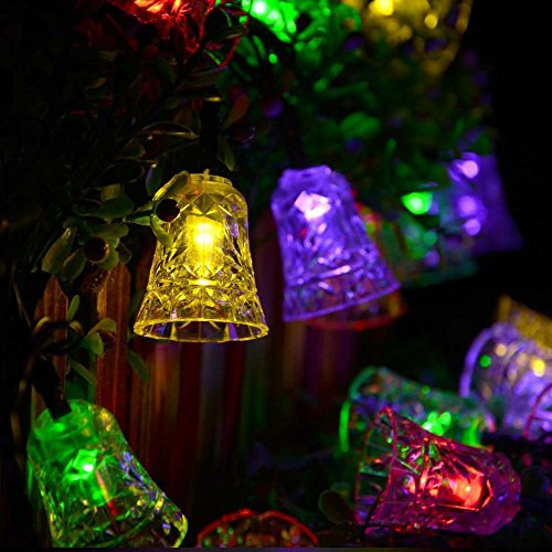 Xcellent Global Solar Fairy String Light 20 LED Multi Color Bell Lights for Gardens, Lawn, Patio, Christmas Trees, Weddings, Parties, Indoor and Outdoor Use LD055