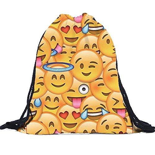 Longra Emoji coulisse Zaino Unisex (Multicolore)