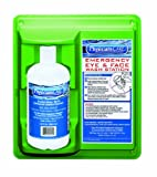 "Pac-Kit 24-202 Wall Mountable Eye Wash Station with Single 32 oz Bottle, 11-3/4"" Length x 4"" Width x 13-3/4"" Height"