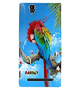 ColourCraft Colorful Parrot Design Back Case Cover for SONY XPERIA T2 ULTRA DUAL D5322