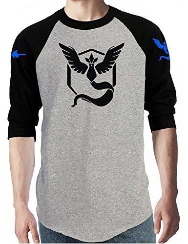 Team-Mystic-Team-Valor-Team-Instinct-Long-Sleeve-Pokemon-Go-Men-T-shirt-Tops