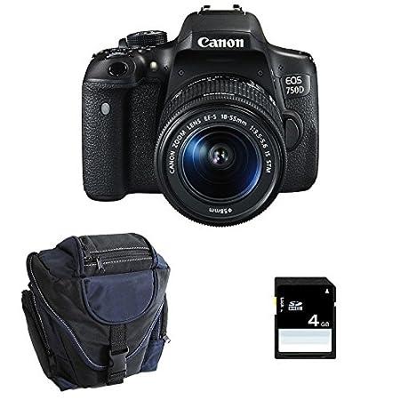 CANON EOS 750D + 18-55 IS STM + Sac + SD 4Go