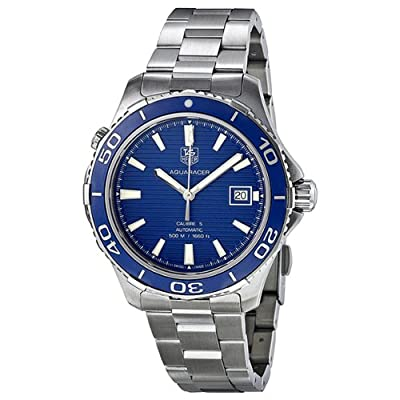 Tag Heuer Aquaracer Calibre 5 Blue Dial Stainless Steel Automatic Mens Watch WAK2111.BA0830 by Tag Heuer