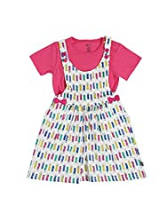 FS Mini Klub Girls Dress (891023E MU_2-3Y, 2-3Y, Multi-Coloured)