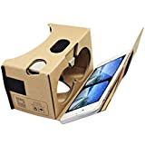 Blisstime Google Cardboard V2.0 3D Glasses VR Virtual Reality Cardboard Kit 2015 with Headband Fit for 3--6inch Screen