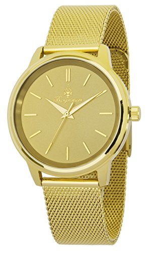 Burgmeister Women's Quartz Watch with Gold Dial Analogue Display and Gold Metal Bracelet BMS02-279