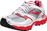 Brooks Women's Glycerin 9 Running Shoe,White/Silver/Pavement/Cerise/Grenadine,6 D US