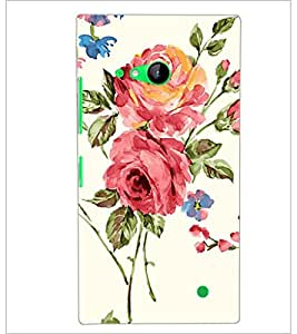 PrintDhaba Flower D-2214 Back Case Cover for NOKIA LUMIA 730 (Multi-Coloured)