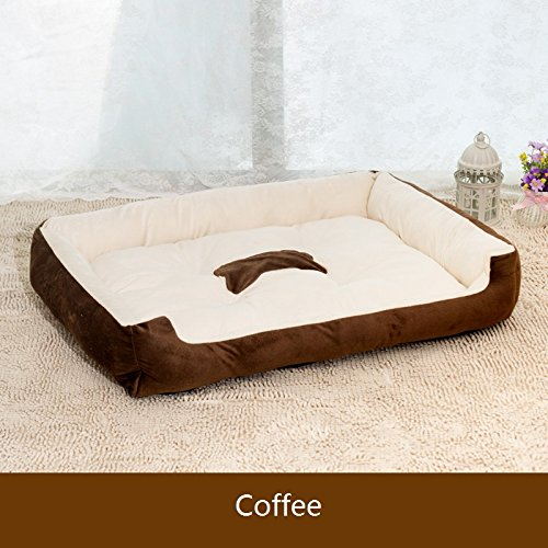 Harkokoro(TM)Cozy Big Size Dogs Bed Kennel for Large Dog, Pet, Puppy, Easy to wash, Warm and Comfortable, Coffee, L (Cheap Big Dog Beds compare prices)