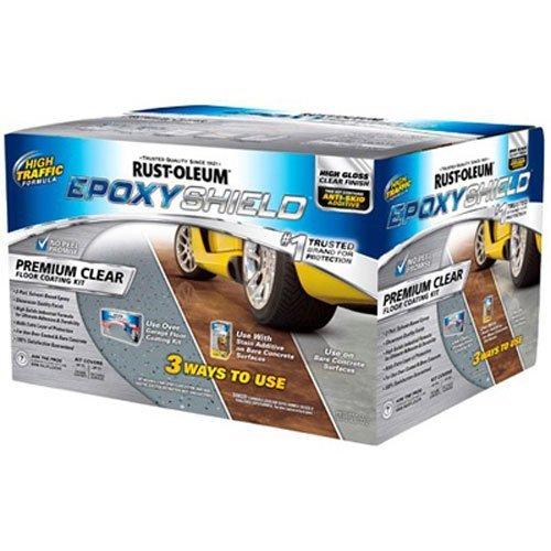 RUST-OLEUM 263997 Epoxy Shield Gallon Clear Professional Premium Floor Coating Kit