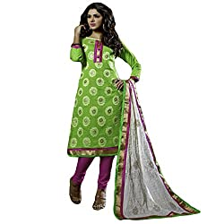 Typify Women's Chanderi Unstitched Dress Material (TYPIFY234_Multicolor_Free Size)