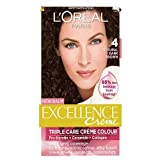 L'Oreal Paris Excellence Hair Colour Kit, Natural Dark Brown Number 4 - Pack of 3