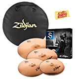 Zildjian S390 S Family Performer Cymbal Set Bundle with Gig Bag and Austin Bazaar Polishing Cloth