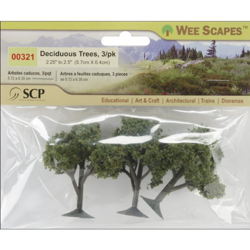 "Deciduous Trees 2.25"" To 2.5"" 3/Pkg- - 1"