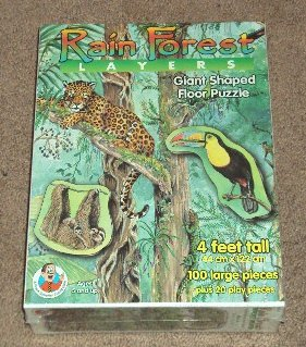 Cheap Frank Schaffer Rain Forest Layers Giant Shaped Floor Puzzle (B0006VLLOM)