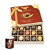 Chocholik Belgium Chocolates - Sweet Treat Of 20pc Truffle Box With Diwali Special Coffee Mug - Diwali Gifts