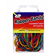 Pencil Grip The Classics Rubber Bands, Universal Size, Assorted Colors, 40 Count Box (TPG-512)
