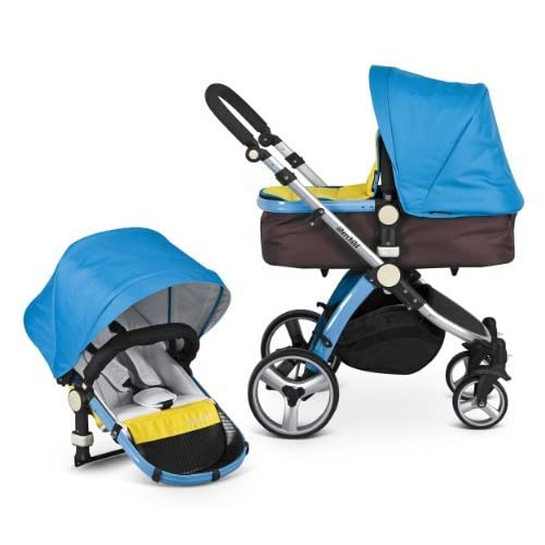 Uberchild EVO Full 2in1 Travel System Including FREE Maxi Cosi Car Seat Adapters - Electric Blue