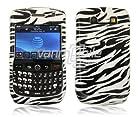 VMG For BlackBerry Curve 8900 Javelin Cell Phone Graphic Image Design Faceplate Hard Case Cover - Black White Zebra Stripes