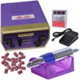 Belle® Professional Quality Medicure Pedicure Nail Tech Drill file for Gels Acrylics Natural Nails with Foot Pedal,30000RPM,110V,Ship From US