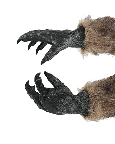 Werewolf Latex Claw Hands Adult Wolf Gloves Costume Accessory for Halloween