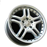 """17"""" Twin Spoke Alloy Wheels for Mercedes Benz - Set of 4 with Lug Bolts and Center Caps"""