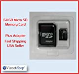 BEST PRICE FOR MICRO SD CARD 64GB CLASS 10 MICRO SDHC MEMORY CARD + FREE SD ADAPTER