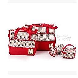 Hoomall 5-in-1 Multifunction Large Capacity Baby Diaper Bag Nappy Changing Pad Travel Mummy Bag Tote Handbag Set