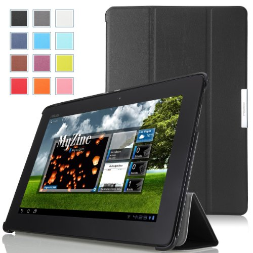 MoKo Ultra Slim Lightweight Smart-shell Stand Case for ASUS MeMo Pad Smart ME301 / ME301T 10.1 inch Android 4.1 Jelly Bean tablet, BLACK