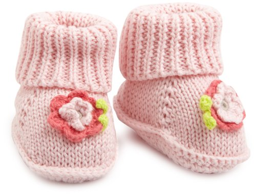 Carter's Hosiery Baby-Girls Infant Crochet Bootie, Pink, Newborn