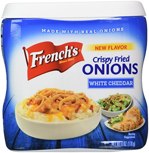 French's White Cheddar Crispy Fried Onions, 6 Ounce (Cheddar Bacon Mac & Cheese Chips compare prices)