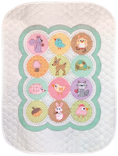Dimensions Needlecrafts Stamped Cross Stitch, Happi Woodland Quilt front-932759