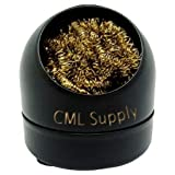 Soldering Iron Tip Cleaning Wire Sponge With Brass Ball ~ CML Supply