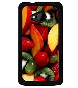 Printvisa Assorted Fruits Pattern Back Case Cover for HTC One M7::HTC M7