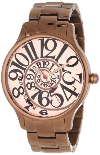 Betsey Johnson Women's BJ00040-13  Analog Brown Stainless Steel Case and Bracelet Watch