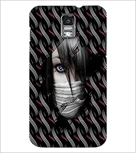 PrintDhaba Blue Eye D-4052 Back Case Cover for SAMSUNG GALAXY S5 (Multi-Coloured)